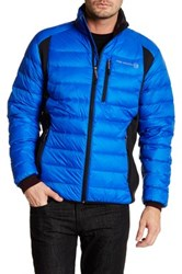 Free Country Microtech Fleece Paneled Down Jacket Blue