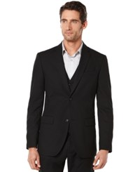Perry Ellis Big And Tall Edv Corded Suit Jacket Black
