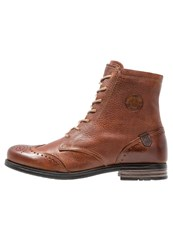 Sneaky Steve Meadows Laceup Boots Cognac