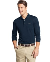 Greg Norman For Tasso Elba Big And Tall 5 Iron Long Sleeve Solid Performance Polo Only At Macy's Night Sky