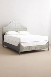 Anthropologie Hand Embossed Bed Silver