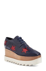 Stella Mccartney Women's Platform Oxford Navy Ruby
