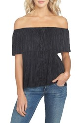 1.State Women's Off The Shoulder Plisse Top
