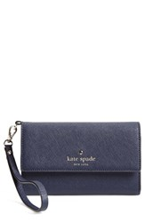 Kate Spade New York 'Cedar Street' Iphone 6 Leather Wristlet Blue Offshore