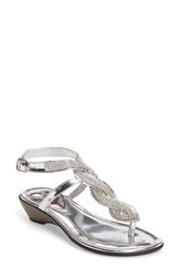 Love And Liberty Women's Sapphire Embellished Sandal