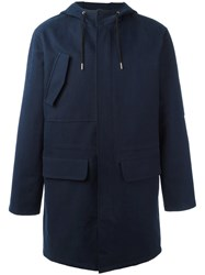 A.P.C. Hooded Coat Blue