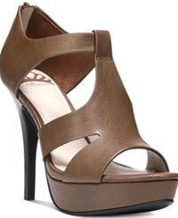 Fergalicious Emilee Platform Dress Sandals Women's Shoes Brown