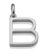 Monica Vinader Sterling Silver Capital B Pendant Female