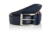 Harris Men's Smooth Leather Belt Blue Navy