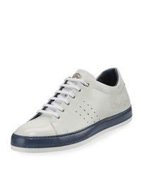 Stefano Ricci Calf Leather Low Top Sneaker White