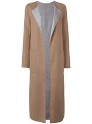 Tagliatore Patch Pockets Mid Coat Brown