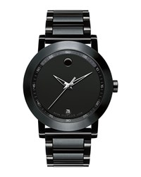 42Mm Museum Sport Watch Black Movado Silver