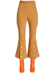 Ellery Flared Cool Wool Pants W Buttons
