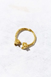 Verameat Adjustable Chesire Kiss Ring Gold