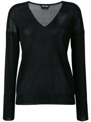 Tom Ford V Neck Sweater Black