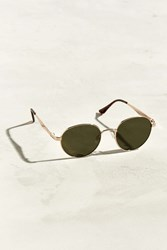 Urban Outfitters Flat Arm Rounded Sunglasses Green Multi