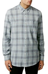 Men's Topman Long Sleeve Check Shirt
