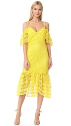 Three Floor Starry Eyed Lace Dress Buttercup Yellow
