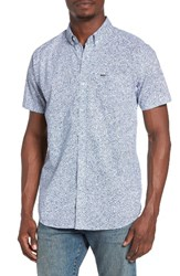 Rip Curl Men's Seedy Print Woven Shirt Blue