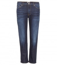Acne Studios Row Cropped Jeans Blue