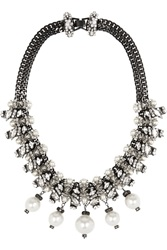 Erickson Beamon Debutante Punk Gold Plated Faux Pearl And Swarovski Crystal Necklace