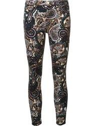 7 For All Mankind Printed Skinny Trousers Multicolour