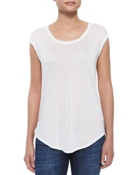 Vince Twisted Cap Sleeve Slub Tee