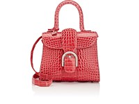 Delvaux Women's Brillant Crocodile Mini Satchel Pink