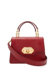 Dolce And Gabbana Welcome Iguana Effect Leather Bag Red