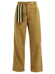 Myar Itp9a Cotton Twill Wide Leg Trousers Beige