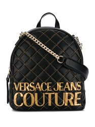 Versace Jeans Quilted Logo Backpack Black