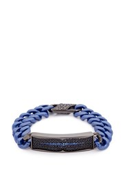 Stephen Webster 'Rayman' Sapphire Rhodium Silver Ceramic Chain Bracelet Metallic