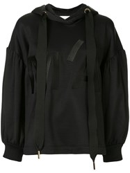 Marques Almeida Marques'almeida Logo Embroidered Hoodie Black