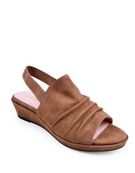 Taryn Rose Tiva Demi Wedge Slingback Sandals Quinoa