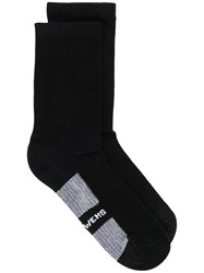 Rick Owens Two Tone Logo Socks 60