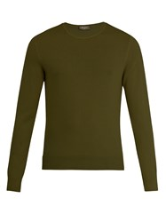 Berluti Crew Neck Cashmere Sweater Green