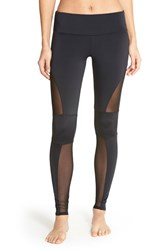 Women's Onzie 'Moto' Mesh Inset Leggings Black