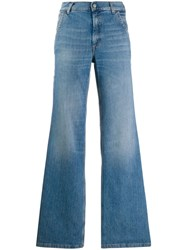 Acne Studios Faded Flared Jeans Blue