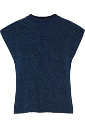 Adam By Adam Lippes Cotton And Cashmere Blend Sweater Storm Blue