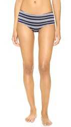 Only Hearts Club So Fine Ruched Back Hipster Briefs Navy Stripe