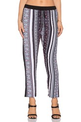 Clover Canyon Striped Tapestry Pant Black
