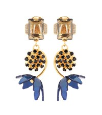 Marni Floral Horn Clip On Earrings Gold