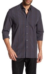 Peter Werth Irving Plaid Trim Fit Shirt Blue