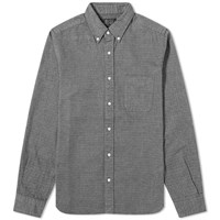 Beams Plus Shaggy Houndstooth Shirt Grey