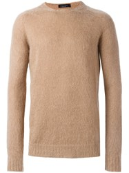 Roberto Collina Textured Sweater Nude And Neutrals