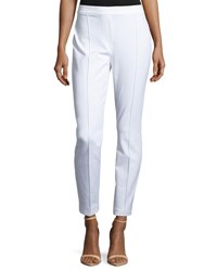 Elie Tahari Gia Straight Leg Ankle Pants White