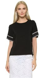 Preen Baya Top Black Ivory
