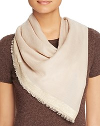 Bloomingdale's C By Metallic Border Scarf Taupe Gold