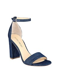 Ivanka Trump Klover Block Heel Sandals Denim