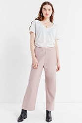 Urban Outfitters Uo Dora High Rise Wide Leg Pant Mauve